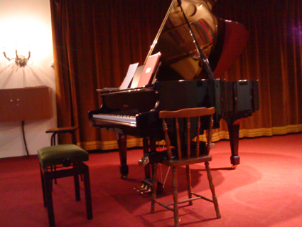 The grand piano at El Círculo de Artesanos in La Coruña, Spain