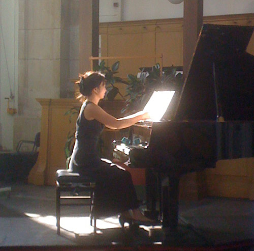 Anne Ku at Oosterkerk in Amsterdam, September 2009