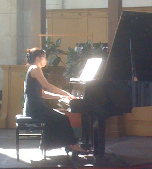Anne Ku in concert at Oosterkerk, 20 September 2009