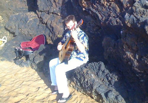 Robert Bekkers at the beach in Wailea, Maui, March 2011