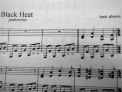 Black Heat for solo piano by Henk Alkema
