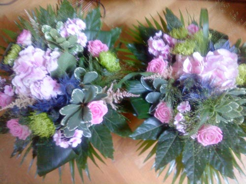 Bouquets after a concert in the Netherlands