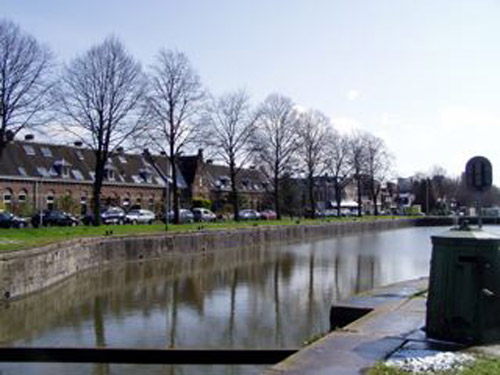 Bridge over Merwedekanaal between Lombok and Oog in Al in Utrecht, Netherlands