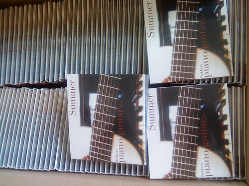 A box of our new CDs