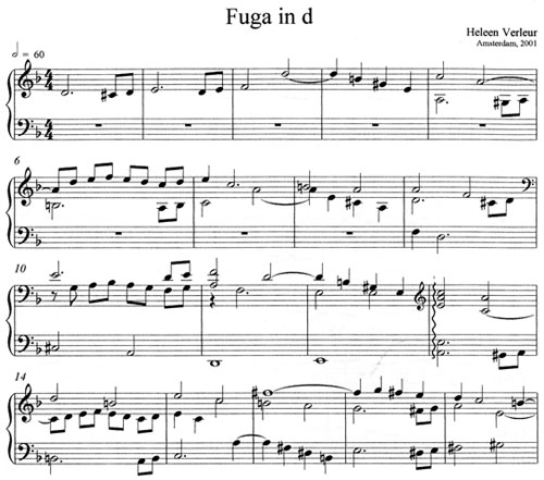 Fuga in d minor by Heleen Verleur