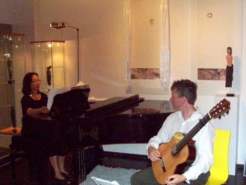 Bekkers Piano Guitar Duo at Funen Concerts Art Productions, Amsterdam, 25 July 2010