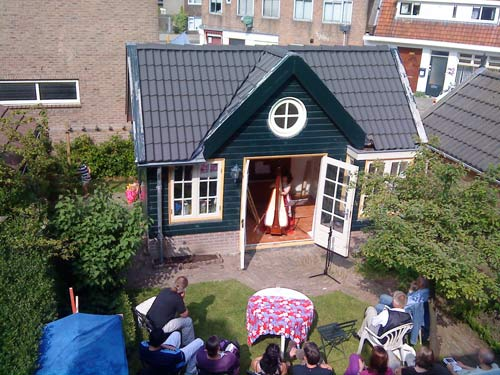 Monument House Concert Series: outdoor concert in garden, May 2010