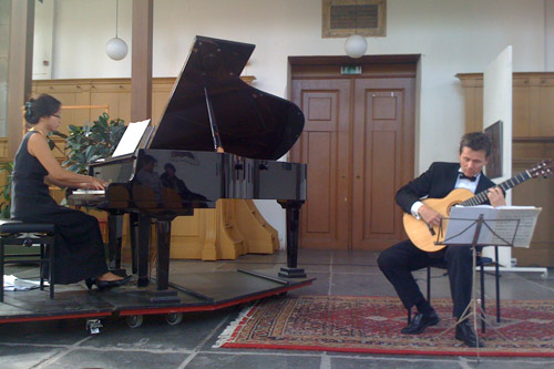 Bekkers Piano Guitar Duo in Oosterkerk in Amsterdam, September 2009
