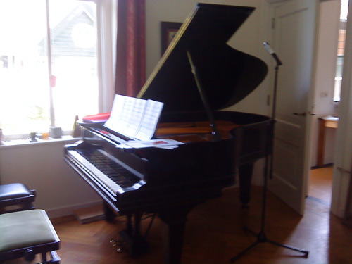 Steinway Grand Model A 188cm, 1909 New York, before recording session