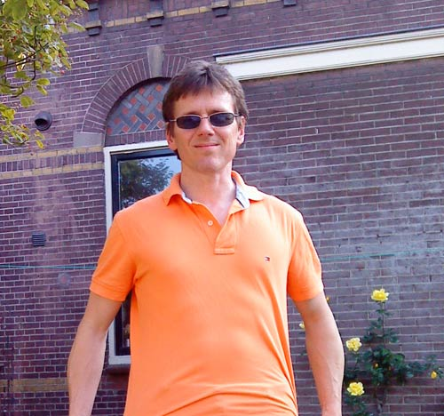 Robert in orange, Utrecht Netherlands, June 2010