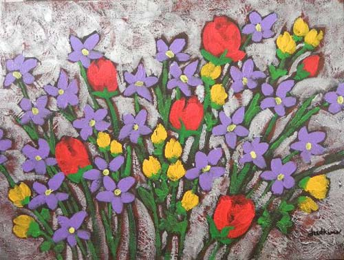 """Spring Collection"" 12x16 acrylic on canvas by Rob Judkins"