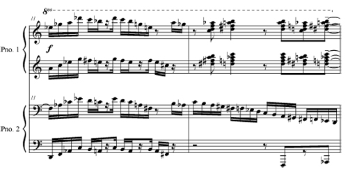 A Little Transition Music, Please - duet for 4 hands, one piano by Robert Pollock