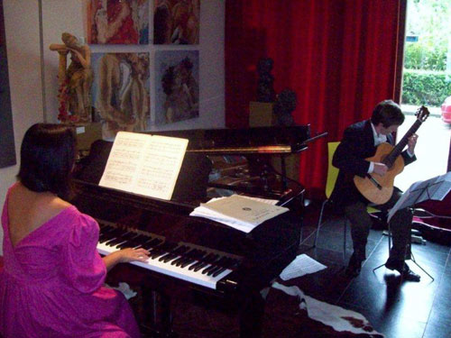 Bekkers Piano Guitar Duo, birthday concert in Amsterdam. Photo: FCAP