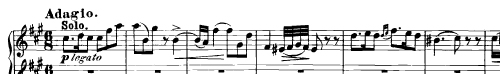 Theme from Adagio, 2nd movement of Mozart's Piano Concerto K.488