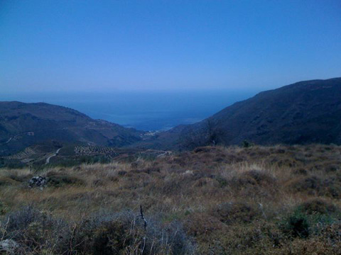 Panoramic view from top of Paleochora Crete