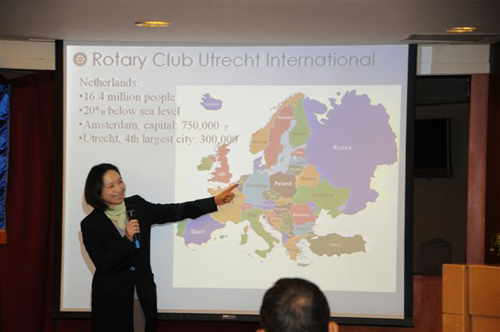 Anne Ku introduces the Netherlands to Tatong Rotary in Taichung