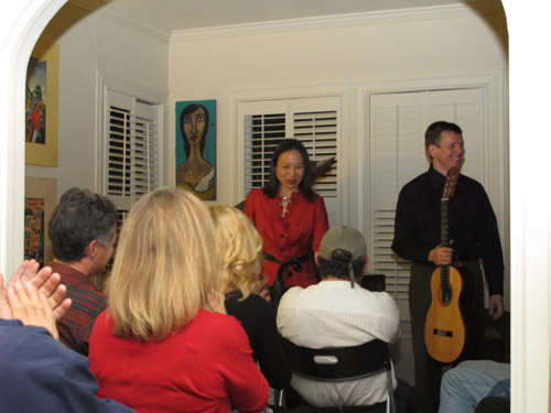 House concert in Montrose area, Houston, Texas Photo: Melissa Noble