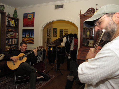 Jamming to Pachelbel Canon in D. Photo: Melissa Noble