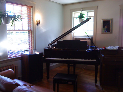 House concert in Newton, Massachusetts