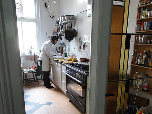 Chef Alberto prepares a traditional meal from Andalucia, Spain. Photo: Susan Raddatz