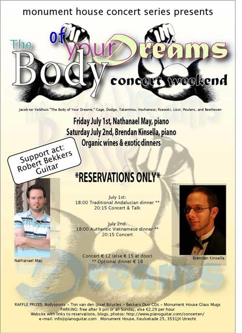 Body of Your Dreams concert poster