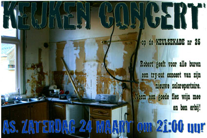 Kitchen Concert, Monument House Concert Series Utrecht