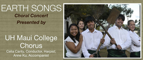 Maui College Chorus Concert Program, Spring 2012