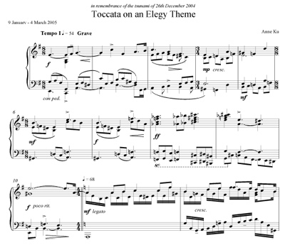 Toccata on an Elegie Theme by Anne Ku