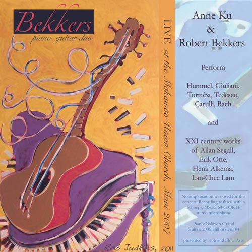 Bekkers Piano Guitar Duo Live in Makawao CD