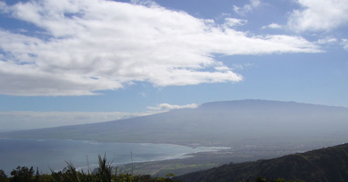 View of Maui from a 4-hour hike