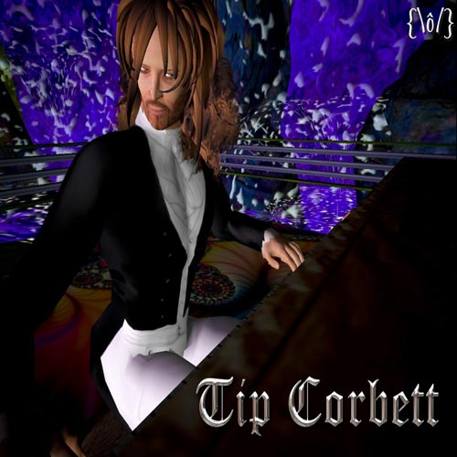 Pianist Greg Hall, a.k.a. Tip Corbett in &quot;Second Life&quot;